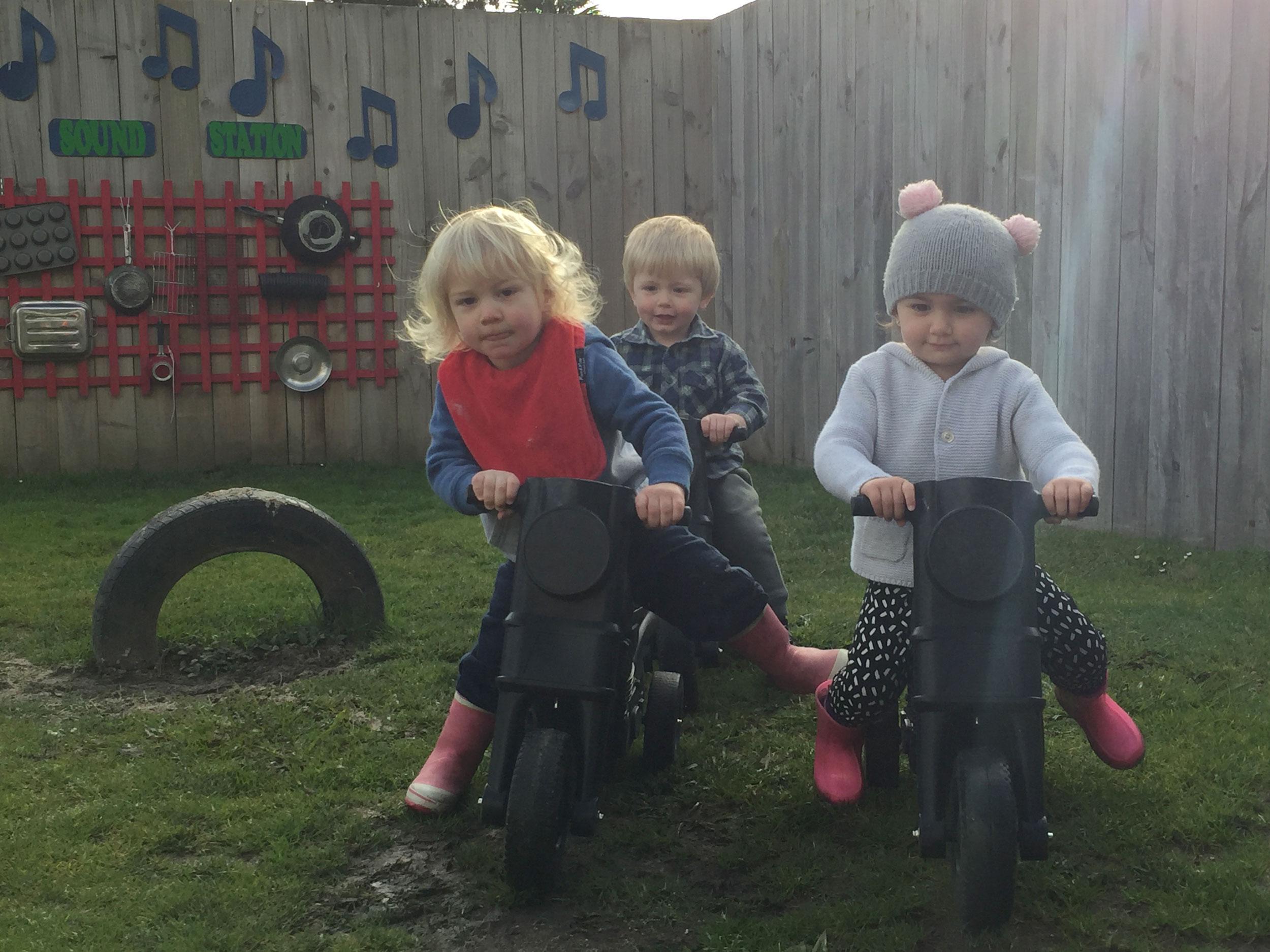 Friends cruising outdoors